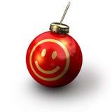 圣诞节面带笑容 库存照片