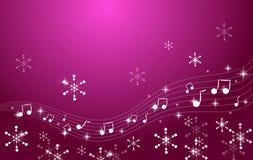 圣诞节音乐会背景 向量例证