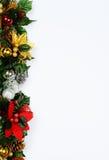 圣诞节页边缘。 免版税库存图片