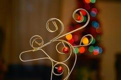 圣诞节顶头鹿背景 免版税库存照片