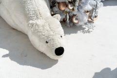圣诞节题材的大熊设施 库存图片