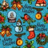 圣诞节颜色无缝的样式 免版税图库摄影
