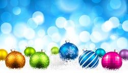 圣诞节颜色球 免版税库存图片