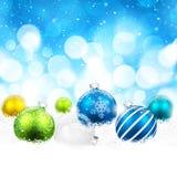 圣诞节颜色球 库存图片