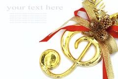 圣诞节颜色音乐丝带符号 免版税图库摄影