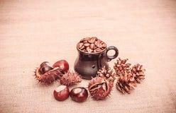 圣诞节风味咖啡 库存照片