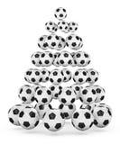 圣诞节风扇s足球结构树 免版税库存图片