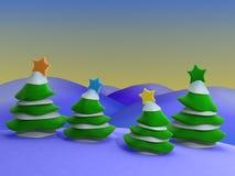 圣诞节风景 库存例证