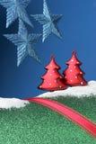 圣诞节风景 免版税库存照片