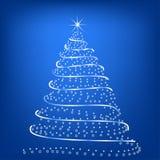 圣诞节风格化结构树 免版税库存照片