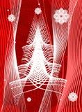 圣诞节风格化结构树 免版税库存图片