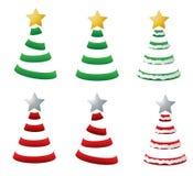 圣诞节风格化结构树 库存图片