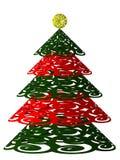 圣诞节风格化结构树 库存照片