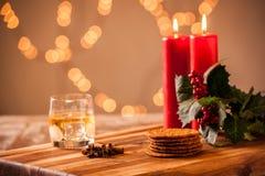 圣诞节食物和饮料 图库摄影