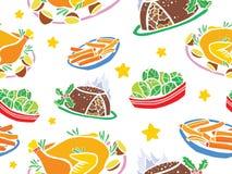 圣诞节食物无缝的样式 皇族释放例证