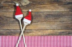圣诞节食物菜单卡片背景 免版税库存图片