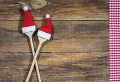 圣诞节食物菜单背景 免版税库存图片