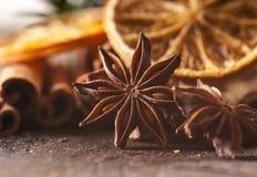 圣诞节食物要素 免版税库存照片