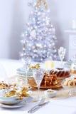 圣诞节餐位餐具 免版税库存照片