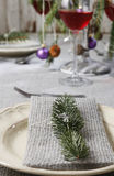 圣诞节餐巾 库存图片