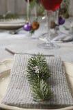 圣诞节餐巾 免版税图库摄影