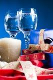 圣诞节饮料存在 库存照片