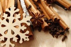 圣诞节香料 图库摄影