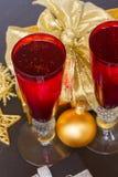 2012年圣诞节香槟 免版税库存照片