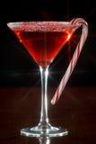 圣诞节马蒂尼鸡尾酒 库存图片