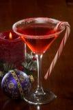圣诞节马蒂尼鸡尾酒 免版税库存图片