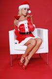 圣诞节马蒂尼鸡尾酒 免版税库存照片