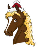 圣诞节马 免版税库存图片