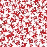 圣诞节驯鹿样式eps10 免版税库存照片