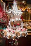 圣诞节驯鹿糖果 库存图片