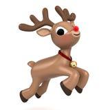 圣诞节驯鹿飞行 免版税库存图片