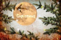 圣诞节魔术夜 库存照片