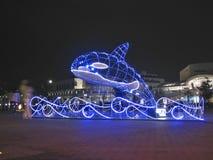 圣诞节鲸鱼 免版税库存图片