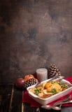 圣诞节鸡 免版税库存图片