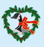 圣诞节鹅 免版税库存图片