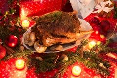 圣诞节鹅 库存照片