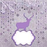 圣诞节鹿和雪花。EPS 8 免版税库存照片