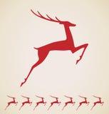 圣诞节鹿葡萄酒要素 免版税库存图片