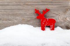 圣诞节鹿装饰 库存照片