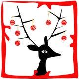 圣诞节鹿 免版税图库摄影