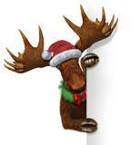 圣诞节麋空白符号 免版税库存照片