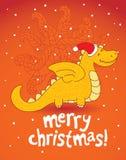圣诞节龙 免版税库存照片