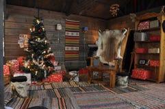圣诞节,圣诞老人室 图库摄影