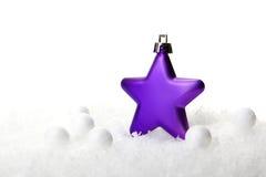 圣诞节,圣诞节装饰紫色 免版税库存图片