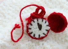 圣诞节,手工制造时钟, xmas,礼物,时间 免版税库存图片