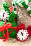 圣诞节,手工制造时钟, xmas,礼物,时间 免版税图库摄影